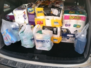 All the supplies for the shelter!