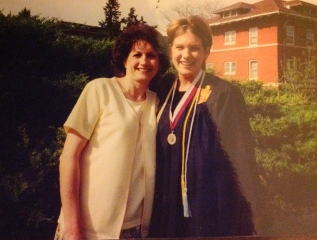 My mom and I at my college graduation.